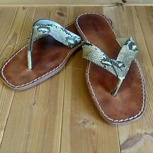 Dolce & Gabbana Python Skin Sandals EU 43 / US 10
